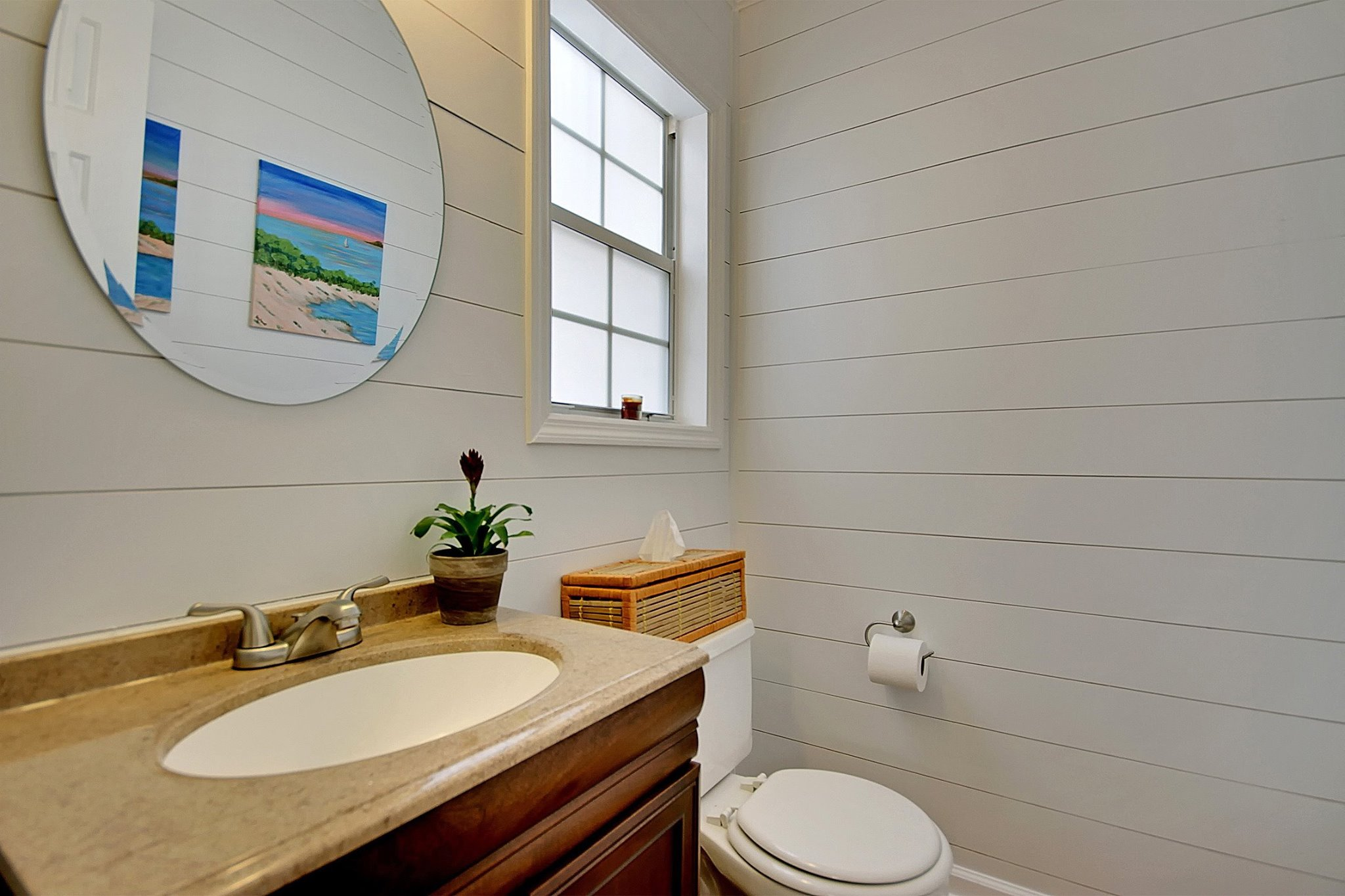 Shiplap vs nickel gap making your budget work for you for Half bathroom cost